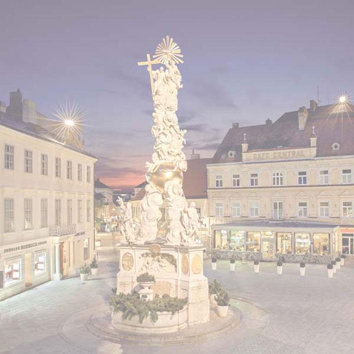 Ausflugsziel in Baden bei Wien: Das historische Stadtzentrum